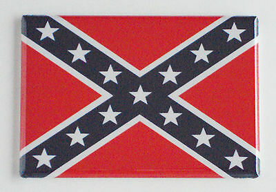 Confederate Flag FRIDGE MAGNET dixie stars and bars american south rebel