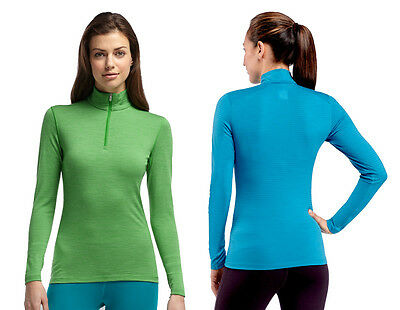 ICEBREAKER Womans Oasis Long Sleeve Half Zip Stripe