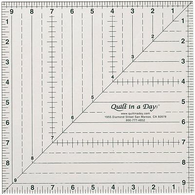 Quilt In A Day 9-1/2-Inch by 9-1/2-Inch Square Up Ruler , New, Free Shipping
