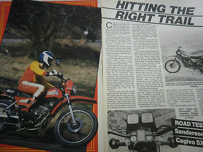 Cagiva Sxt125 - 3 Page Original Motorcycle Report