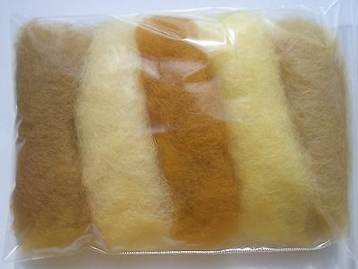 Carded wool fiber for needle felting crafts-15grams-5C#72