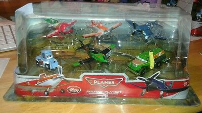 Disney Store 6 Piece Planes Figurines Play Set- New