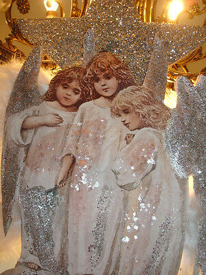 ANGELS ORNAMENT*SALE* GURADIANS* WINGS*DAZZLING STAR*GLITTER MICA*LOVELY