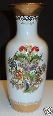Sneroll Grup Stunning Porcellanes Bohemia Colorful Tropical Flower Vase Gold