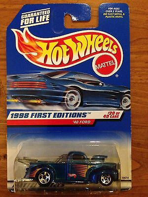 Hot Wheels 1998 First Editions - '40 Ford - #20 of 40 - New on Card