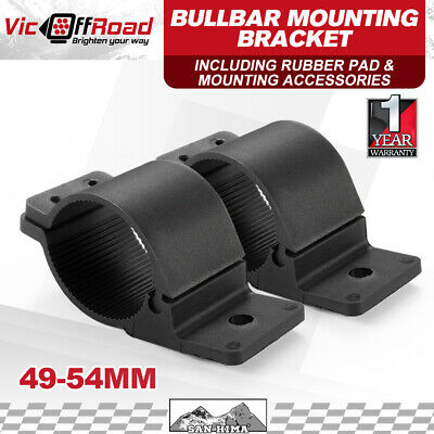 2PCS 49 to 54mm Bullbar Mounting Bracket for Light Bar Driiving HID Mount Clamp