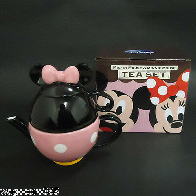 Disney Minnie Mouse Porcelain Tea set for one / pot and mug / Good for Gift Cute