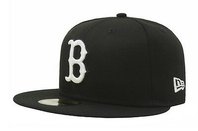 NEW ERA 59Fifty Fitted MLB Baseball Hat Boston Red Sox Black Men 5950 Cap