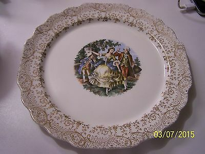 Vintage Lido WS George White Warranted 22K Gold Dinner Plate