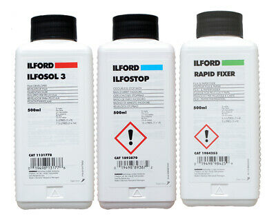 Ilford B&W Film Processing Chemical Kit - All the chems need to dev your neg