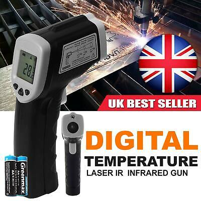 Handheld Digital Laser Thermometer Gun LCD Non-Contact IR Infrared UK Stock