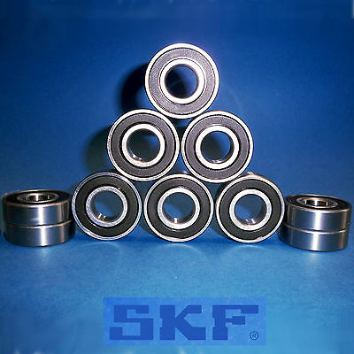 10 Kugellager 6205 2RS  / Markenware SKF / 25 x 52 x 15 mm