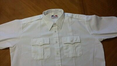 Flying cross Mens white Long Sleeve Police shirt size 19.0 X 35,  Style 45W6600