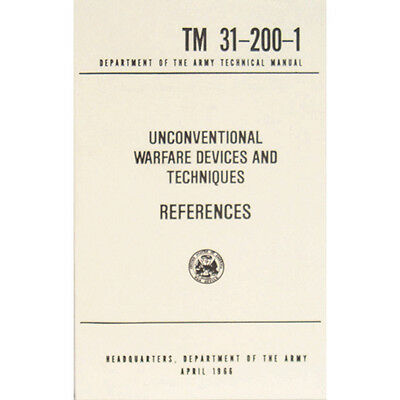 "U.S. Army Technical Manual ""REFERENCES"" TM 31-200-1 April 1966 Pages 234 New"