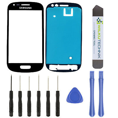 Samsung Galaxy S3 Mini i8190 8200 Glas Schwarz ● Display Touchscreen Scheibe
