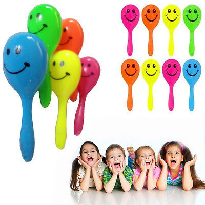 Maracas Smiley Kids Rattle Shaker Shaking Sound Toy Music Pair Party Bag Filler