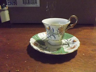 Merit -Vintage Small flower design Hand Painted Cup & Saucer made in Japan