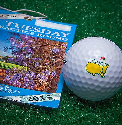 2 - 2015 Masters Tuesday Practice Round Tickets - Augusta National GC