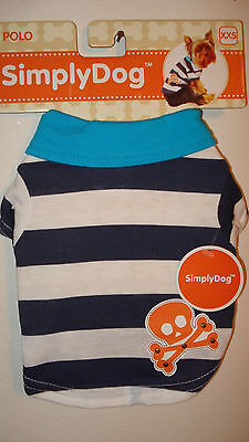 SIMPLY DOG POLO SKULL AND CROSS BONES SHIRT SIZE XXSMALL NEW WITH TAGS