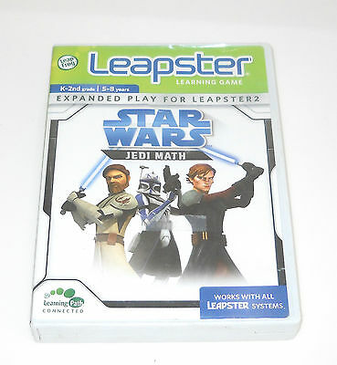 STAR WARS LEAPSTER Jedi Math Learning Game Leap Frog K-2nd Grade 5-8 yrs