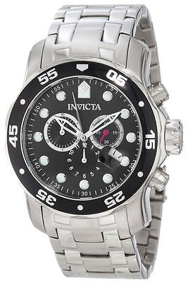 """Invicta Men's 0069 """"Pro Diver Collection"""" Stainless Steel Chronograph Watch"""
