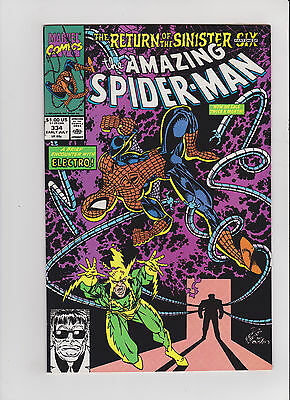 Marvel Amazing Spider-Man 334 Eric Larsen Signed --- RARE Comic lot