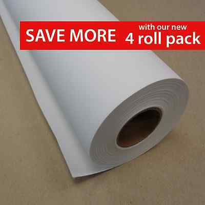 """24"""" x 40' Matte Polyester Inkjet Canvas Roll (4 roll pack)"""