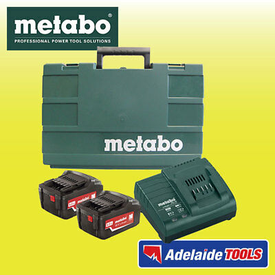 Metabo 18 Volt Cordless Starter Pack - 2 X 5.2Ah Batteries, Charger & Bag