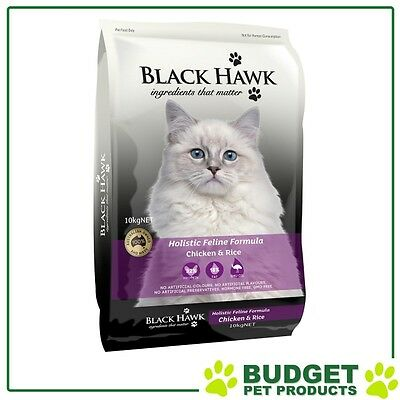 Black Hawk Holistic Feline Chicken & Rice For Cats 10kg