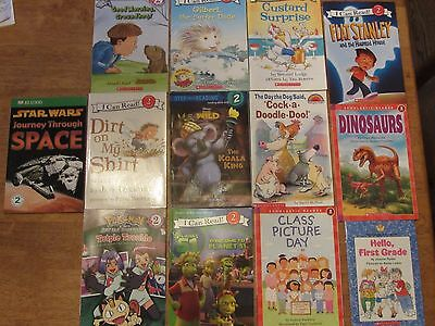 LOT of 13-Level 2 Beginning to Read Books-Flat Stanley, Ready, Freddy and More