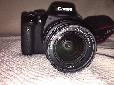 Canon Rebel T3i (EOS 600D) with Canon EF-S 18-55mm IS Lens FREE SHIP USA LWR 48