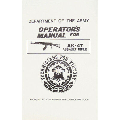 Department Of The Army Operator's Manual For Assault Rifle 203d Battalion New