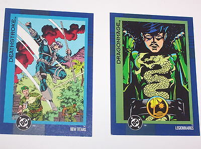 1993 DC COSMIC TEAMS TRADING CARD  PROMO #00  DRAGONMAGE, DEATHSTROKE 60 !!!