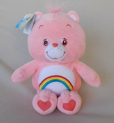 """CHEER BEAR EMBROIDERED RAINBOW CARE BEAR 11"""" NEW WITH TAGS"""