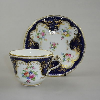 19th Century Staffordshire Porcelain Cup & Saucer