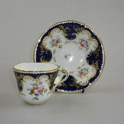 19th Century Staffordshire Porcelain Coffee Cup & Saucer