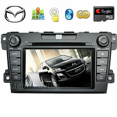 "7"" Stereo Radio iPod MP3 Car DVD Player GPS Navigation For Mazda CX-7 2007-2012"
