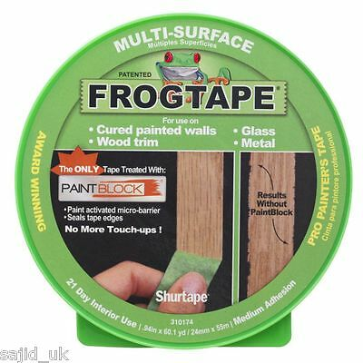 FrogTape Multi-Surface Masking Painting Tape - Green - 24mm x 41.1m