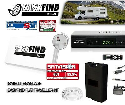 EasyFind Digital Traveller Kit Full HD High End mobile Camping Satallitenanlage