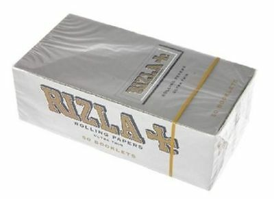 10 Packs (500 Leaves) RIZLA Rolling papers Normal size SILVER