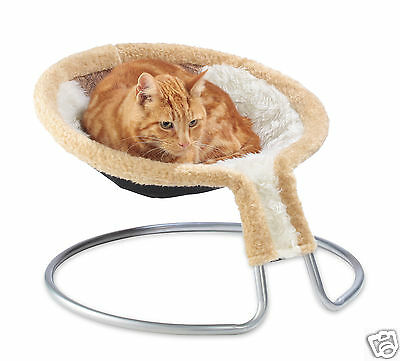 Cleo Deluxe Cat Napper Cat Bed with Brown Diamond Insert (09-500BRDD) • EUR 31,80