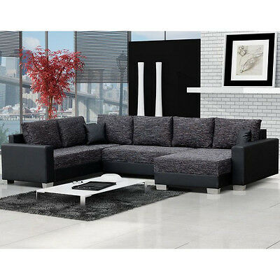 Corner Sofa Bed TOMASI with Storage Container Sleep Function New