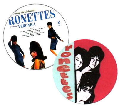2 RONETTES BADGES,  60's Pop, girl groups.