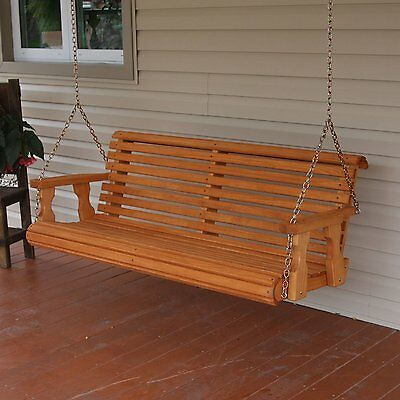 CAF Amish Heavy Duty 700 lb Roll Back 5ft. Treated Porch Swing