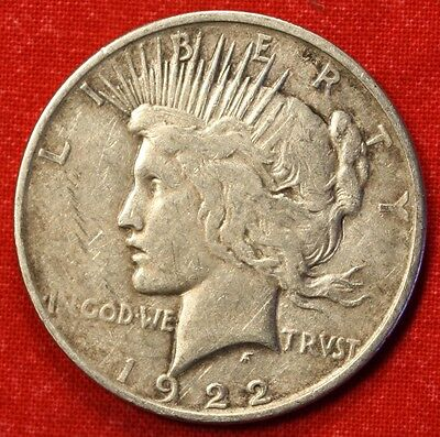 1922-D PEACE DOLLAR VF 90% SILVER COLLECTOR COIN CHECK OUT STORE L@@K *$ PE35