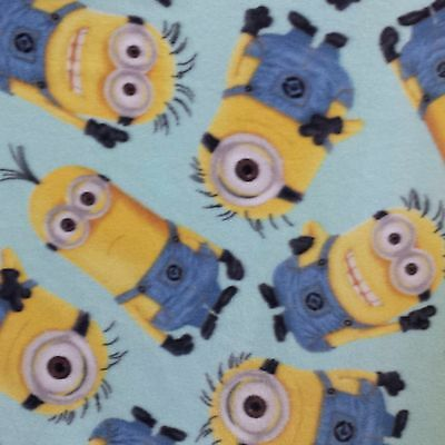 Despicable Me-Tossed Minions - Polar Fleece Fabric - SOLD BY THE YARD