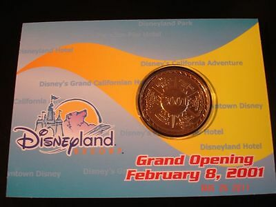 Disney Vintage Coin Opening Feb. 8,2001-CA Adventure