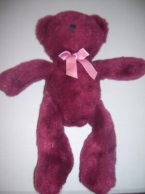 RUSS RHAPSODY BURGANDY BEAR,14 IN. #8705