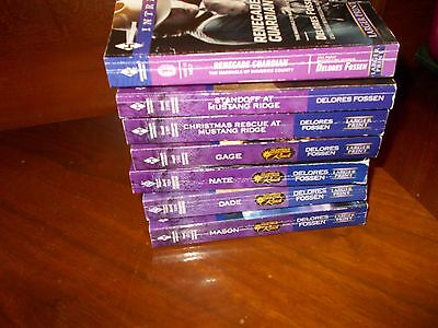 lot of 7 HARLEQUIN INTRIGUE BOOKS by DELORES FLOSSEN