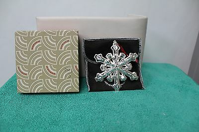 Gorham 1980 Silverplate Snowflake Ornament With Box & Bag